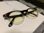 白山眼鏡をカラーレンズに交換