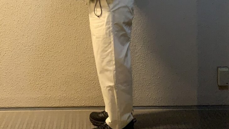 初めての白パンツ